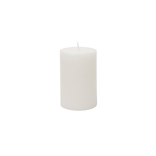 """2"""" x 3"""" Round Unscented Pillar Candle - White, CASE OF 48"""