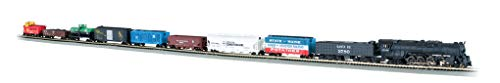 Bachmann Trains - Empire Builder Ready To Run 68 Piece Electric Train Set - N Scale ()