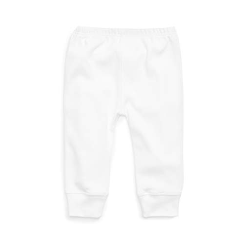 Cotton Organic Tee World (1212 Unisex Baby Pant Cuffed Ankle – 100% Organic Pima Cotton–Allergy Friendly (18-24 Months, White))