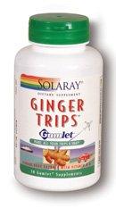 Solaray Ginger Trips Gumlet Capsules, 135mg, 30 (Gumlet Gum)