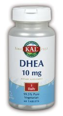 KAL DHEA-10 Tablets, 10mg, 60 Count by ()