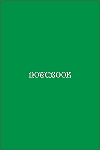 Notebook: Celtic Lettering: Minimalist Green Notebook With