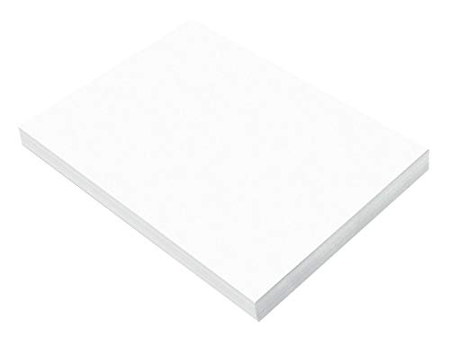 "SunWorks Construction Paper, Bright White,  9"" x 12"", 100 Sheets"