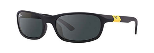 Ray-Ban Boys' Acetate Man Rectangular Sunglasses, Matte Black 195/87, 50 - China Designer Sunglasses