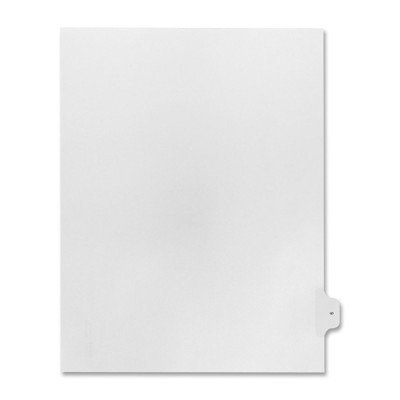 Numerical Index Dividers, Exhibit 9, Letter, 10/BX White [Set of 3]