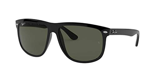 Ray-Ban Men's 4147 60mm Polarized Black/Crystal Green Polarized none ()