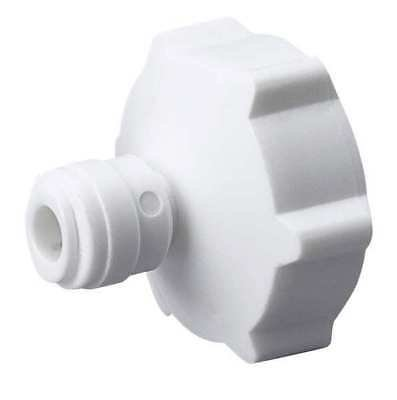 (Female Garden Hose Adapter, 1/4x3/4, Poly, White)