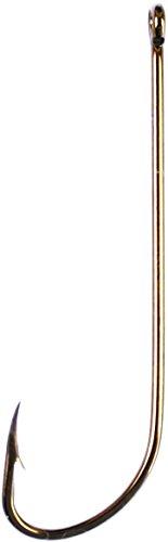 Long Shank Bronze - Eagle Claw 072R-2 Long Shank Offset Hook, Bronze Finish, 2X