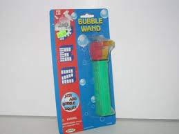 - Vintage 1997 PEZ Bubble Wand -- Large Coach Whistle