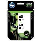 3 X HP 60 Black Original Ink Cartridges, 2 pack (CZ071FN) - Hewlett Packard Ink Cartridges 60