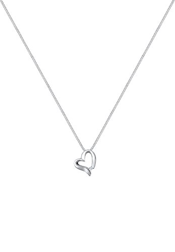 Elli PREMIUM - Collier court Coeur - Argent 925/1000 - Diamant - 0109340815_45