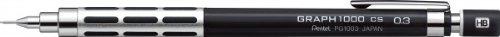 Pentel Graphlet - Portaminas, graf1000CS, color negro 0.3mm