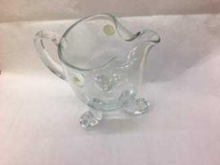 Crystal Clear 3 footed pitcher