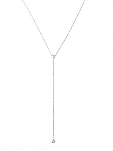 Silver Delicate CZ Crystal Lariat Drop Necklace by HONEYCAT (Delicate Drop Necklace)