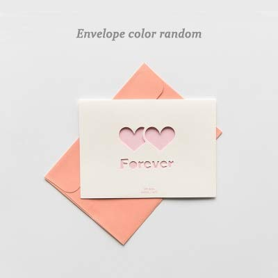 1pc Creative Hollow love word heart greeting card Wedding thanks birthday card paper Wedding Party supplies]()