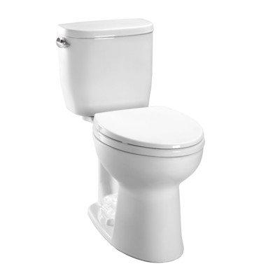 Toto CST243EF-01 Entrada 1.28GPF Round CalGreen Two-Piece Toilet, White
