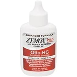 ZYMOX Plus OTIC-HC 1.25 fl. oz Hydrocortisone 1.0% Dog Cat Ear Otitis Treatment