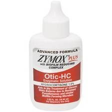 ZYMOX Plus OTIC-HC 1.25 fl. oz Hydrocortisone 1.0% Dog Cat Ear Otitis Treatment (Zymox Otic Enzymatic Solution For Pet Ears)