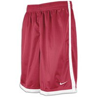 (Nike Dri-FIT Men's Maroon/White Basketball Shorts - Large)
