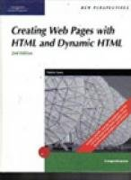 New Perspectives on Creating Web Pages with HTML and Dynamic HTML by Cengage Learning