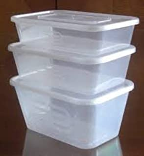 10 HEAVY DUTY PLASTIC FOOD GRADE STORAGE CONTAINERS 10 LIDS
