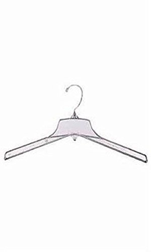 Break-Resistant 17 inch Clear Plastic Coat Hangers - Case of 100 by STORE001