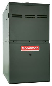 Goodman GMS81005CN 100,000 BTU Furnace, 80% Efficiency, Single-Stage Burner, 2,000 CFM Multi-Speed Blower, Upflow/Horizontal Flow Application (Gas Furnace 100000 Btu compare prices)