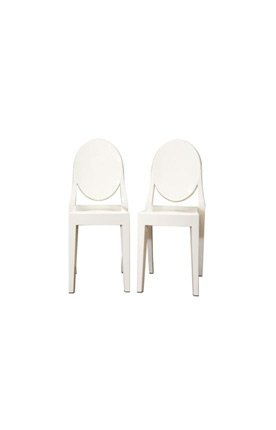 (Baxton Studio Acrylic Ghost Dining Chair - Set of 2)