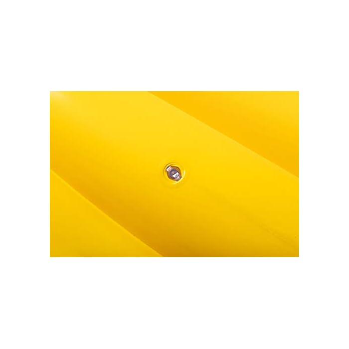 21XZ8EVYIeL Material robusto con válvulas de seguridad para un inflado seguro Vinilo resistente probado para asegurar su durabilidad Tiene 2 cámaras de aire para un fácil inflado y desinflado
