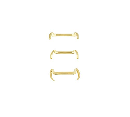 14k White/Yellow Gold Filled Metal Ring Guard - Small Medium Large (Pack of 3) (Yellow) ()