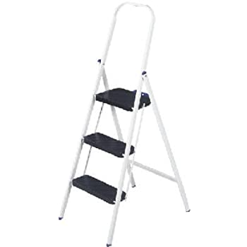 Safety 1st Ultra Thin 3 Step Ladder White And Blue