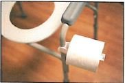 ICP Medical LLC Portable Commode Toilet Paper Holder White