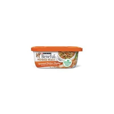 6 Tubs of Purina Beneful Prepared Meals Simmered Chicken Medley Wet Dog Food - 10 oz. ea
