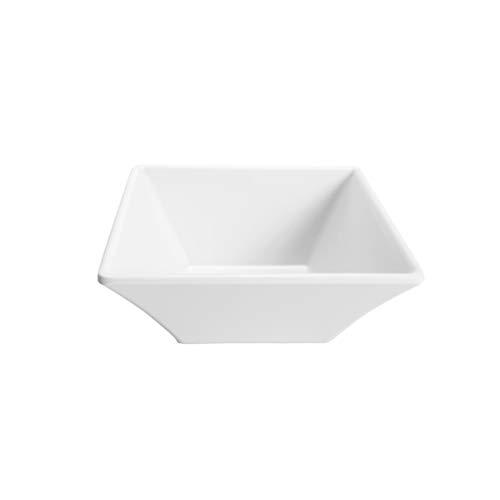 "Elite Global Solutions DB5SQ-W Square Bowl, 5"" sq. x 2"" h, Melamine, White (Pack of 6)"
