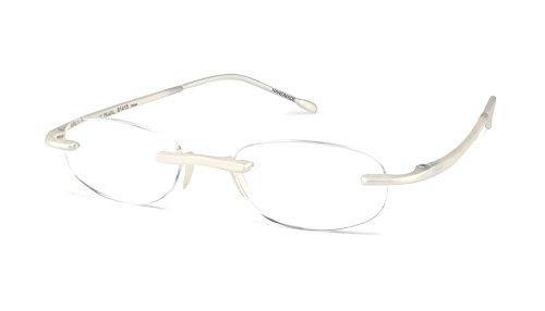 (Gels - Lightweight Rimless Fashion Readers - The Original Reading Glasses for Men and Women - Metallic Pearl (+1.75 Magnification Power))
