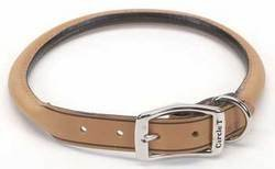 Tan Leather Dog Collar - Coastal Pet Products DCP120620TAN Leather Circle T Oak Tanned Round Dog Collar, 20 by 3/4-Inch, Tan