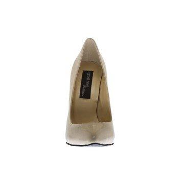 The Highest Heel Womens Hottie Pump Beige Patent