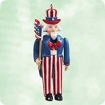 (Hallmark Keepsake Ornament Uncle Sam Nutcracker 2003)