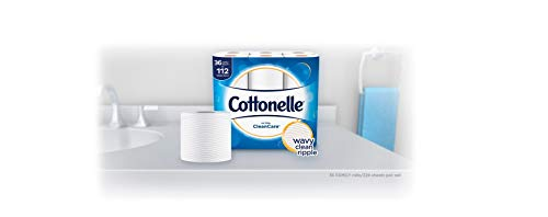 Large Product Image of Cottonelle Ultra CleanCare Toilet Paper, Strong Biodegradable Bath Tissue, Septic-Safe, 36 Family+ Rolls