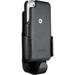 4 Gb Iphone (Signature Line Case-Mate Rare Black luxurious Leather Flip Case & Holster Combo with Ratchet belt clip for AT&T Iphone 3G I-phone iphone 4gb 8gb 16gb 32gb)