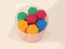 Mass, hexagonal, plastic, set/54, Case of 8