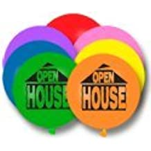 17 Inch OPEN HOUSE Balloons (Premium Outdoor Helium Quality) By Tuftex 50 Ct