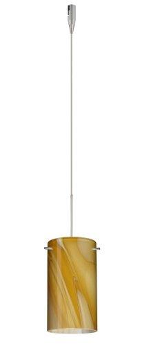 - Besa Lighting RXP-4404HN-SN 1X50W Gy6.35 Stilo 7 Pendant with Honey Glass, Satin Nickel Finish