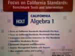 Focus CA Stnd CD Bnch&intv CA Alg 1 2008 (Holt Algebra 1)