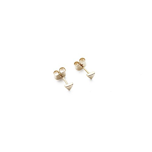 HONEYCAT Tiny Triangle Stud Earrings in 24k Gold Plate | Minimalist, Delicate Jewelry (G)