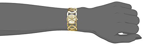 Novadab Immortal Love Accent Loop Bracelet Watch, Wrist Watches for Ladies (Gold) by NOVADAB (Image #2)