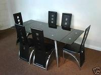 Grande Extending Dining Table + 4 Rossini Dining Chairs: Amazon.co ...