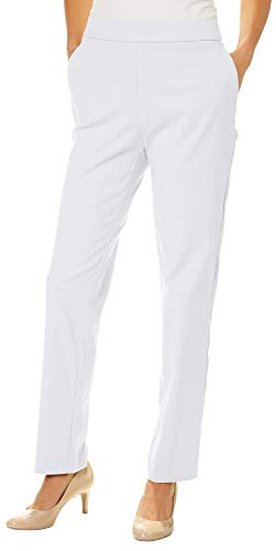 Counterparts Womens Tummy Control Slim Leg Pants 18 White