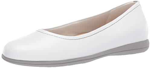 Trotters Women's Darcey Ballet Flat, White, 9.0 W US