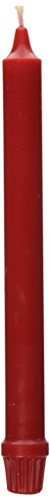 Colonial Candle Classic Tapers, 10-Inch, Red
